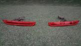 Диодные катафоты в бампер на Subaru Forester SH 2008-2015г. красные