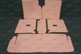 Коврики в багажник 3D, эко-кожа на Toyota Land Cruiser Prado 150 и Lexus GX460 7 мест, бежевые
