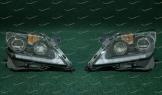 Диодные темные фары на Lexus LX570 2012-2015г. с бегающим поворотником Anniv. 25th