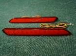 Диодные катафоты (371) в задний бампер на Toyota и Lexus красные