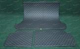 Коврики в багажник 3D, эко-кожа на Toyota Land Cruiser Prado 120 5 мест, черные