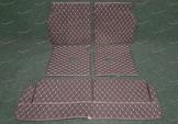 Коврики в багажник 3D, эко-кожа на Toyota Land Cruiser Prado 150 и Lexus GX460 7 мест, черные
