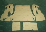 Коврики в багажник 3D, эко-кожа на Toyota Land Cruiser 200 и Lexus LX570 5 мест, бежевые