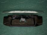 Рамка под номер на 5 дверь с хром ручкой на Toyota Land Land Cruiser Prado 150 с 2013г. черная