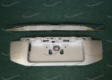 Рамка под номер с хром ручкой на Toyota Land Land Cruiser Prado 150 с 2013г. серебристая