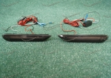 Неоновые катафоты (398) в задний бампер на Nissan дымчатые