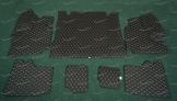 Коврики в багажник 3D, эко-кожа на Toyota Land Cruiser Prado 150 и Lexus GX460 5 мест, черные