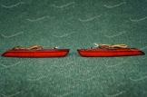 Диодные катафоты (382) в задний бампер на Honda красные