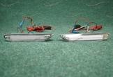 Неоновые катафоты (398) в задний бампер на Nissan белые