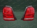 Неоновые стоп сигналы на Toyota Highlander в стиле Range Rover 2001-2007г.