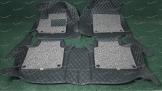 Коврики в салон 3D 2-х слойные, эко-кожа на Toyota Camry 50 левый руль, черные
