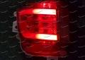 Неоновые катафоты в бампер + диоды на Toyota Land Cruiser 200 с 2016г. красные