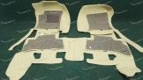 Коврики в салон 3D 2-х слойные, эко-кожа на Toyota Land Cruiser Prado 150 и Lexus GX460 бежевые 5 мест