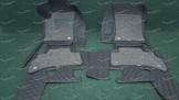 Коврики в салон 3D 2-х слойные, эко-кожа на Toyota Land Cruiser Prado 150 и Lexus GX460 черные 5 мест