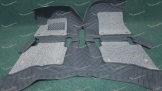 Коврики в салон 3D 2-х слойные, эко-кожа на Toyota Hilux Pickup черные