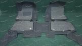 Коврики 3D в салон 2 слойные, эко-кожа на Nissan Patrol 2010-2017г.   черные
