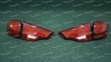 Тюнинг стоп сигналы на Toyota Highlander 2013-2017г. стиль Lexus Красные