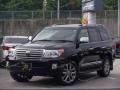 Передний бампер на Toyota Land Cruiser 200 2012-2015г. черный