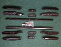 Продольные рейлинги на Toyota Land Cruiser Prado 150 тип 2, черные